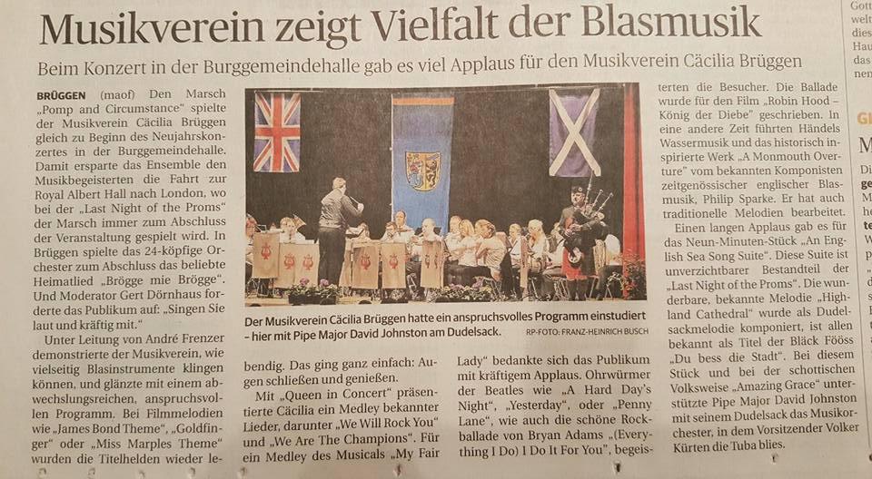 Bericht in der Rheinischen Post vom 10.01.2017